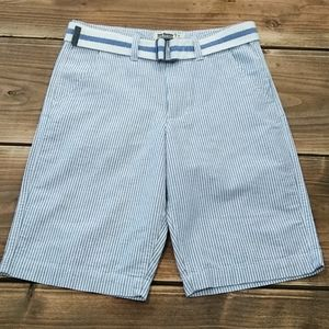 Boys Urban's Pipeline (14) Blue Pinstripe Shorts